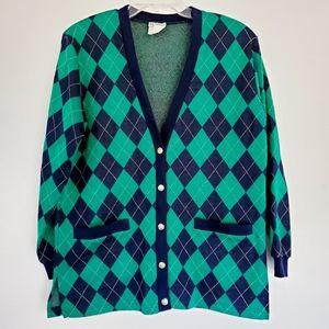 Vintage plaid cardigan
